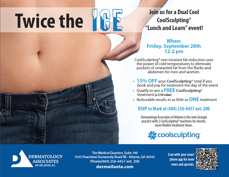 "Dermatology Associates of Atlanta hosting Coolsculpting ""Lunch & Learn"" event"