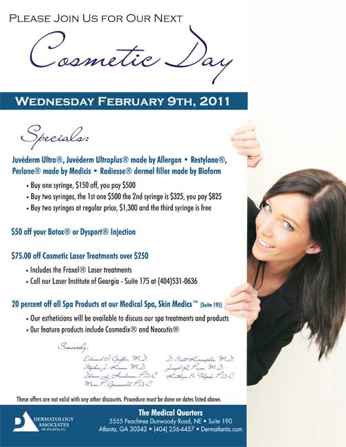 Dermatology Associates of Atlanta Cosmetic Day
