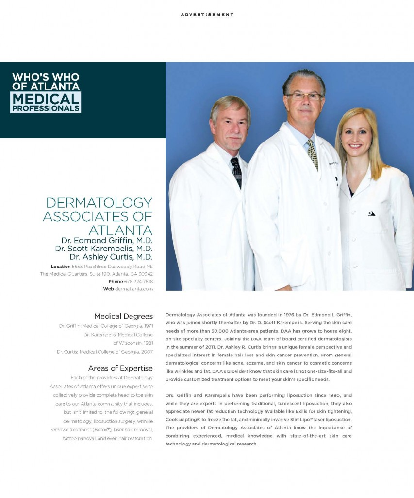 Dermtatology Associates of Atlanta Who's Who