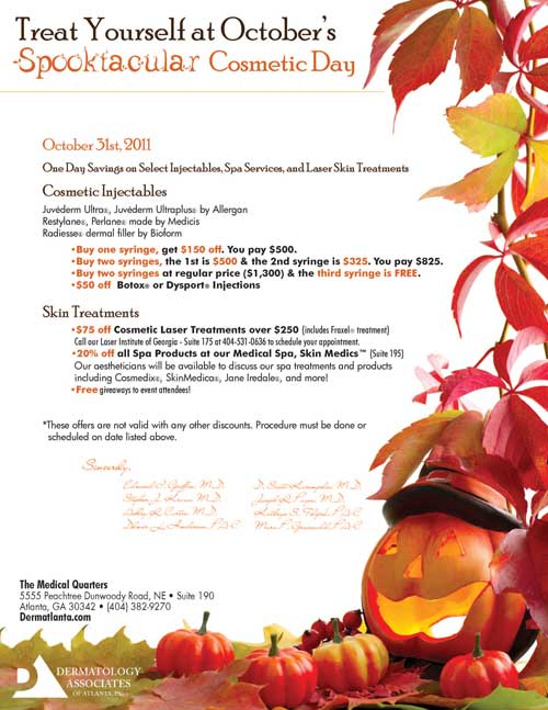 Skin Medics Medical Spa Spooktacular Cosmetic Day
