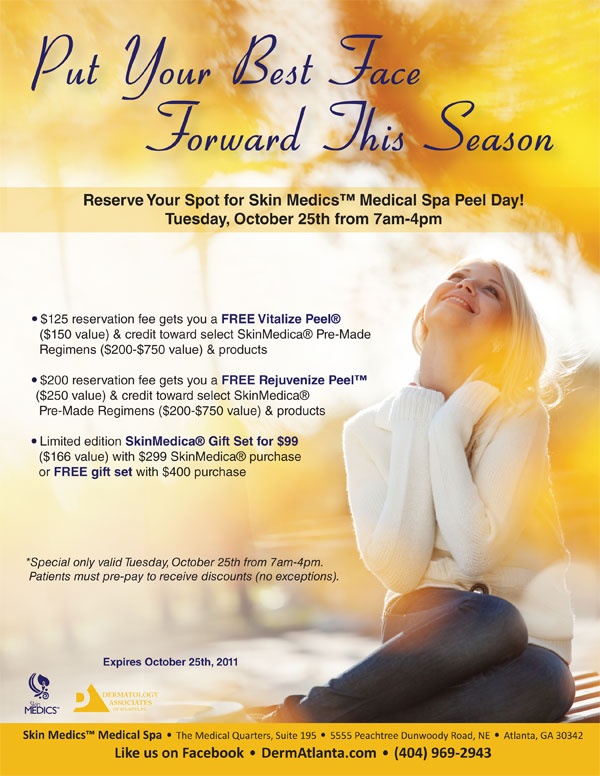 Dermatology Associates of Atlanta's Skin Medics Medical Spa Peel Day