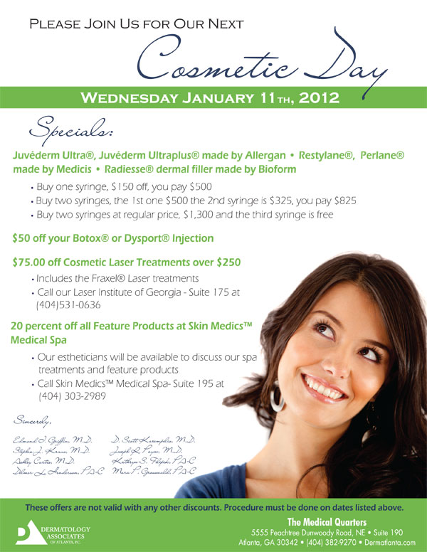 Dermatology Associates of Atlanta January Cosmetic Day