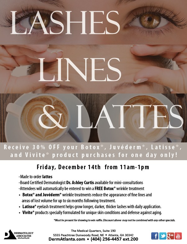 Lashes, Lines & Lattes Event Atlanta GA