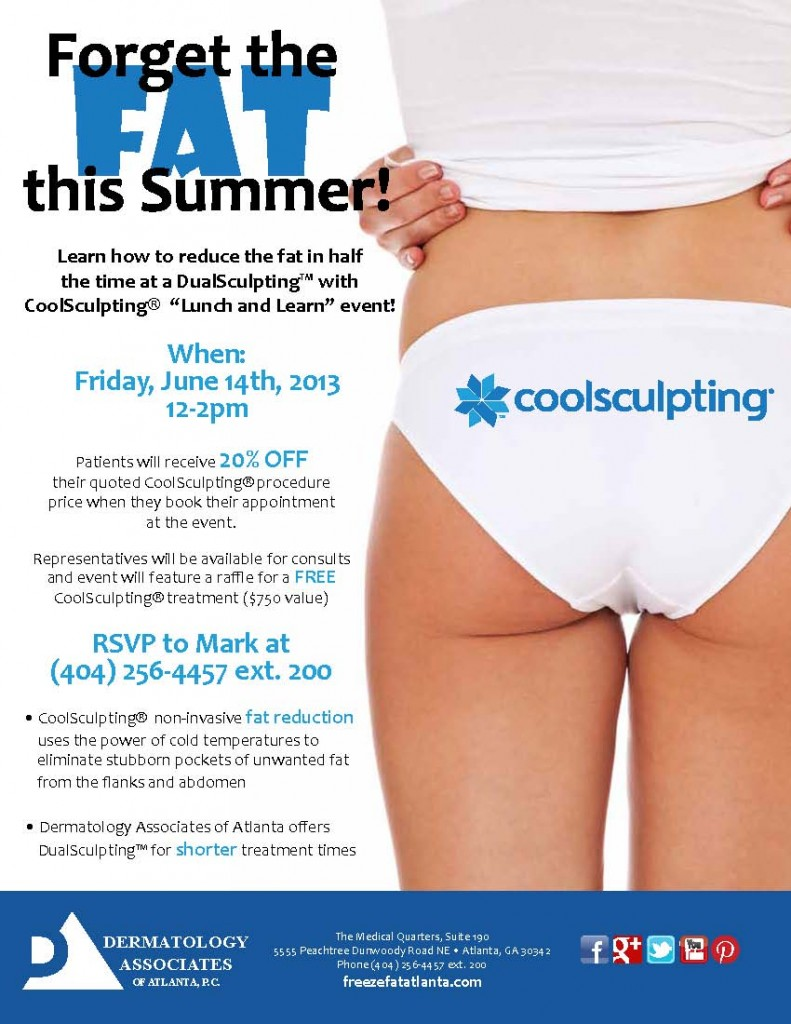 Atlanta CoolSculpting June 2013 Lunch Learn Event