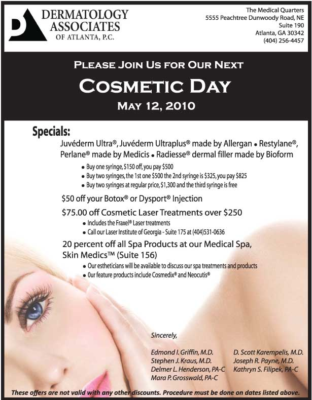 Dermatology Associates of Atlanta Cosmetic Day!