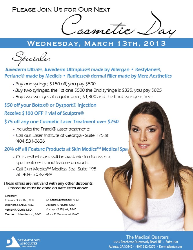 march cosmetic day flyer DAA