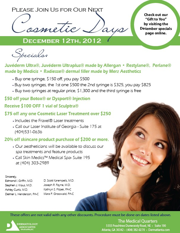 Derm Associates of Atlanta Cosmetic Day