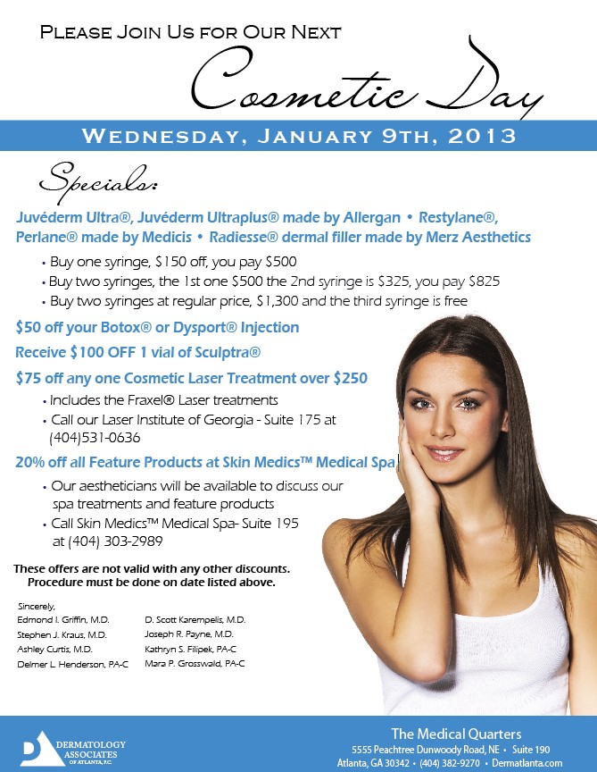 Dermatology Associates of Atlanta - January 2013 Specials