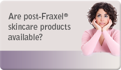 are post fraxel skincare products available