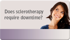does sclerotherapy require downtime