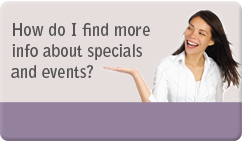 find out about events and specials at DAA