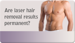 are laser hair removal results permanent