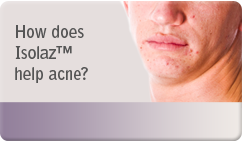 How does Isolaz™ help acne
