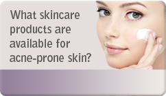 What skincare products are available for acne prone skin