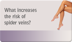 What increases the risk of spider veins