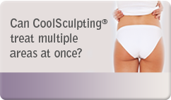 Can CoolSculpting® treat multiple areas at once