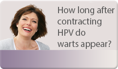 how long after contracting HPV do warts appear