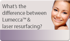 What's the difference between Lumecca™ & laser resurfacing?