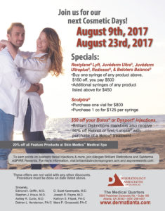 Derm Atlanta August 2017 Cosmetic Days