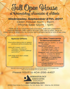 Dermatology Associates of Atlanta Fall 2017 Open House