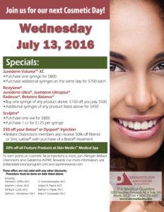 DAA July 2016 cosmetic day