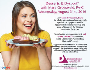 Desserts Dysport with Mara Grosswald PA-C August 31st 2016