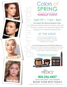 Glo Minerals Colors of Spring Makeup Event